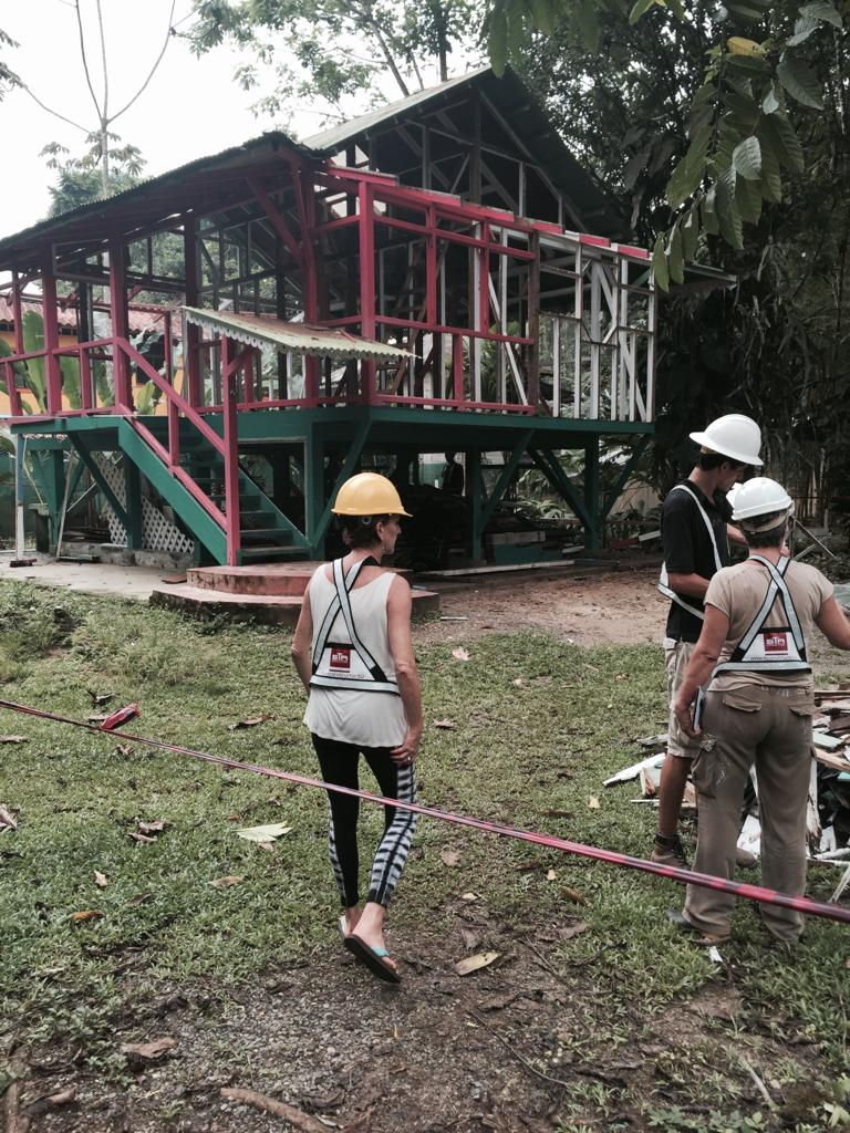 Construction of Hotel Aguas Claras by mother and daughter team